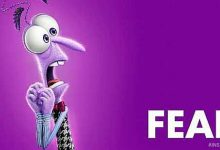 Fear character from Pixar's Inside Out movie